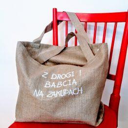 Torba typu shopper bag z haftem